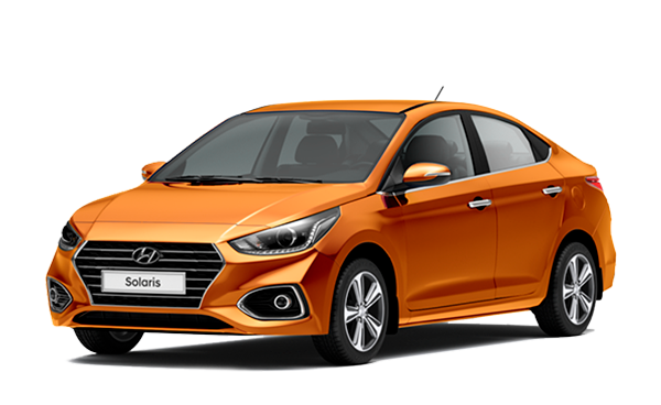 Фото Hyundai Solaris цвет SUNSET ORANGE
