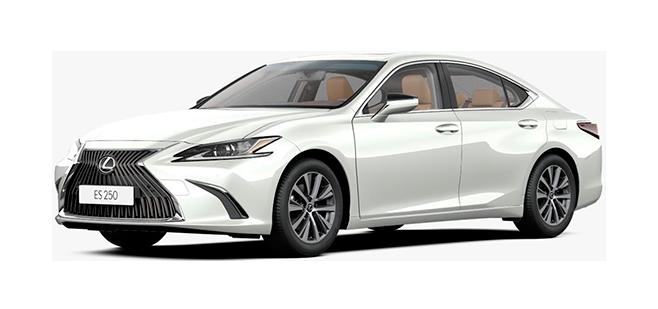 Фото Lexus ES цвет Искрящийся белый специальный металлик